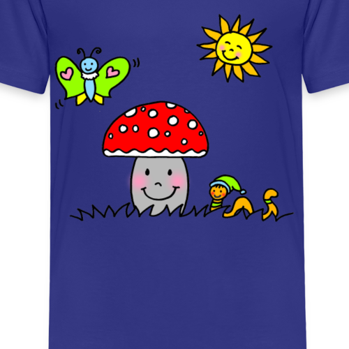 Fröhlicher Pilz in der Sonne - Kinder Premium T-Shirt