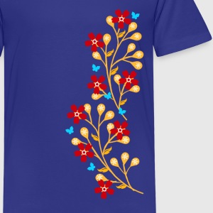 Flowers, floral tendril, twine, summer, spring, - Kids' Premium T-Shirt