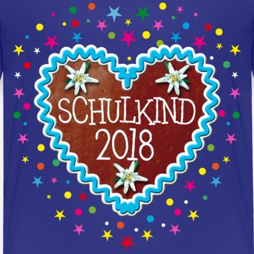 29 Schulkind 2018 Lebkuchenherz Edelweiss - Kinder Premium T-Shirt