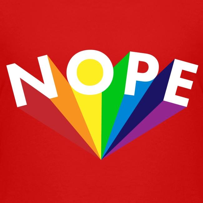 Nope Nö Nein als Regenbogen