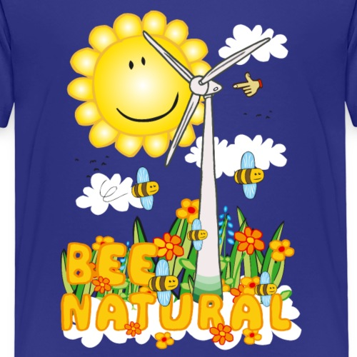 Bee Natural Windmill - Bee Beautiful Collecting - Kinderen Premium T-shirt