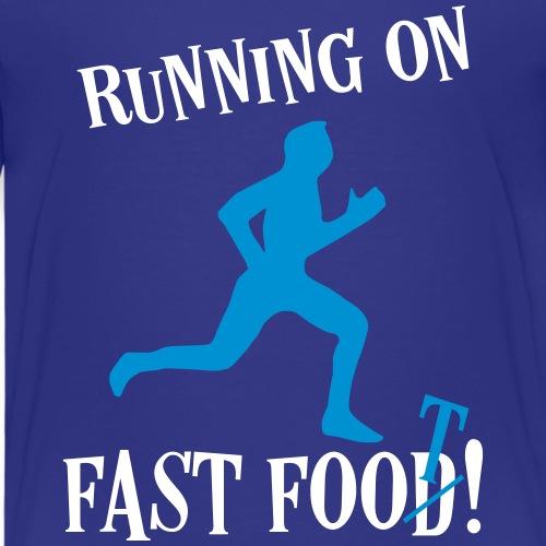 Sport Fitness Laufen Sprüche - Fast Food Läufer - Kinder Premium T-Shirt