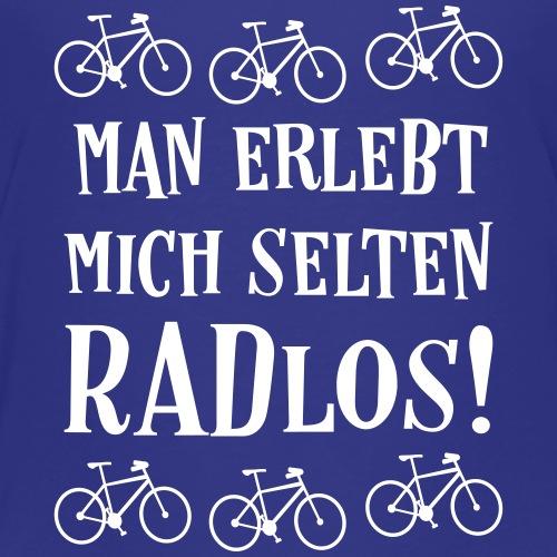 Coole Fahrrad Fahren Sprüche - Selten radlos - Kinder Premium T-Shirt