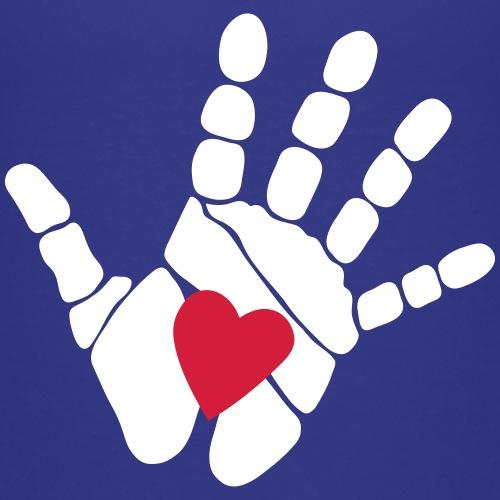 Hand mit Herz Weiß - Kinder Premium T-Shirt