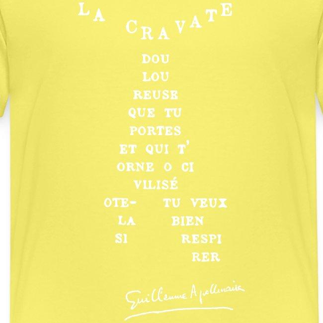 Calligramme Cravate Apollinaire