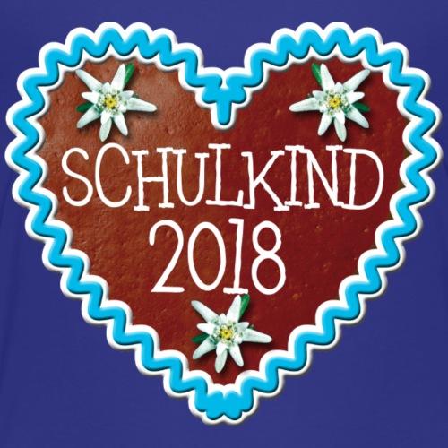 30 Schulkind 2018 Lebkuchenherz Edelweiss - Kinder Premium T-Shirt