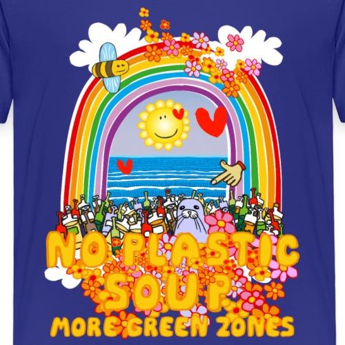 Bee Beautiful Collection - No Plastic Soup - Kinderen Premium T-shirt