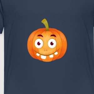 emoji citrouille Happy Thanksgiving t-shirt comique stup - T-shirt Premium Enfant