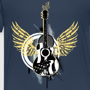Gitarre guitar Flügel wings Graffiti Musik music - Kinder Premium T-Shirt