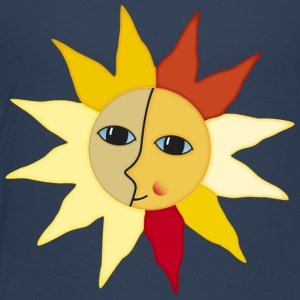 Sunrays Moon faces moment happiness - Kids' Premium T-Shirt
