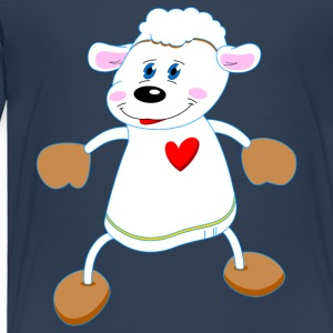 Sheep Sheep Dance Dance sheep wool heart love - Kids' Premium T-Shirt