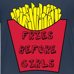 Fries before girls - Kinder Premium T-Shirt