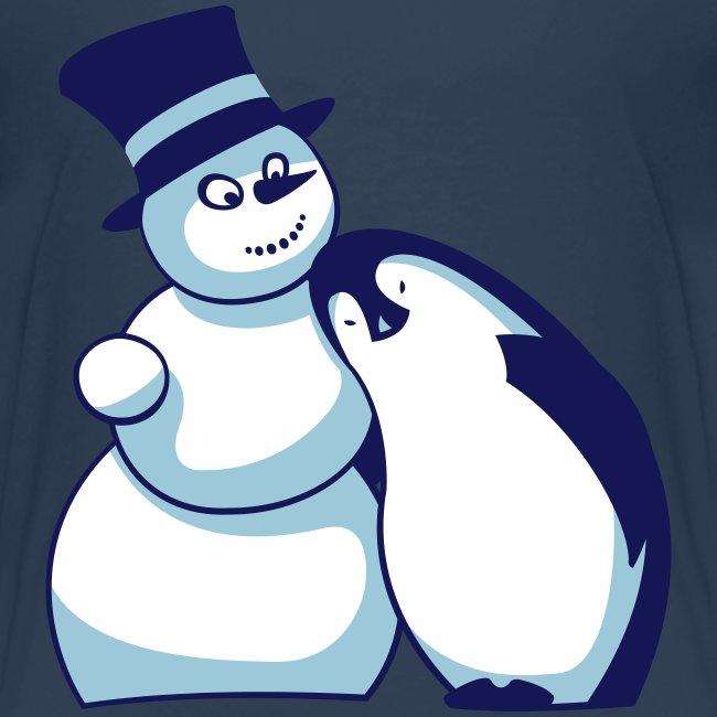 Schneemann und Pinguin