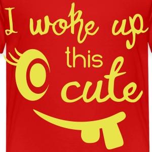 I woke up this cute - Kinderen Premium T-shirt