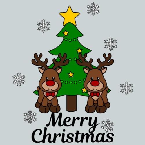 Reindeer with Christmas tree - Kids' Premium T-Shirt