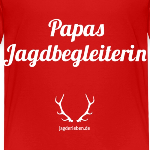 Papas Jagdbegleiterin weiss - Kinder Premium T-Shirt