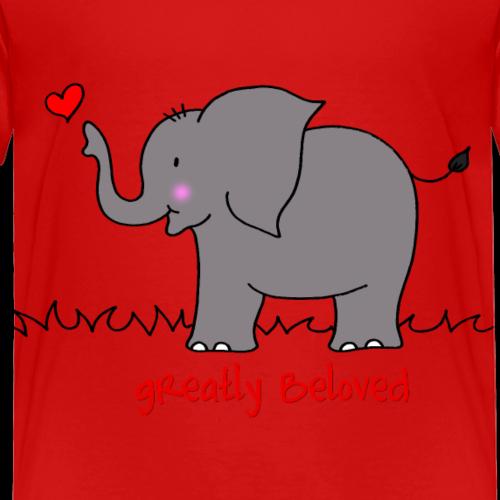 Elefant mit Herz - Kinder Premium T-Shirt