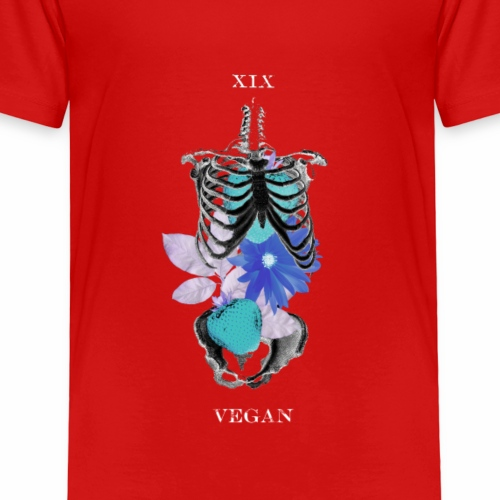 Vegan on the Inside - Invert Blue Muted - Kids' Premium T-Shirt