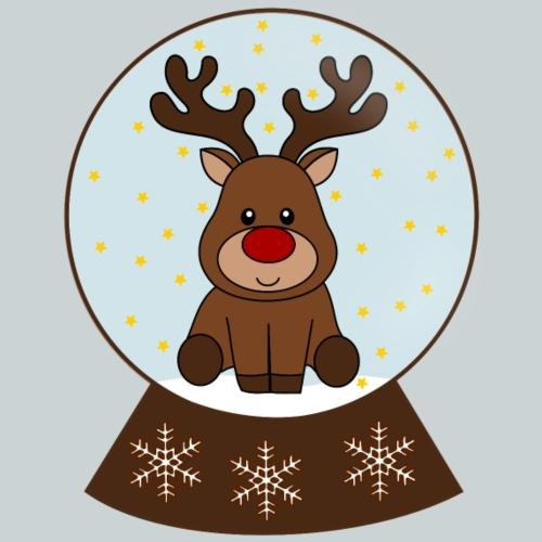 Snowglobe reindeer - Kids' Premium T-Shirt