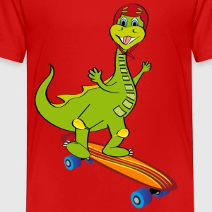dinosaur skateboard - Premium T-skjorte for barn