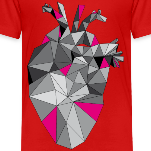 Graphic Heart with Pink - Kinder Premium T-Shirt