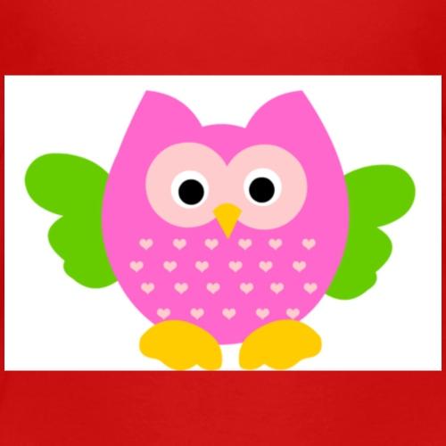 gufo gufetto rosa - Maglietta Premium per bambini