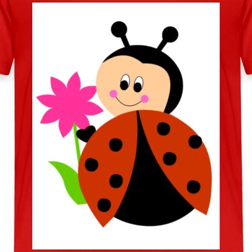 Coccinella portafortuna - Maglietta Premium per bambini