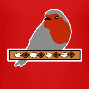 Red throat with banner - Kids' Premium T-Shirt