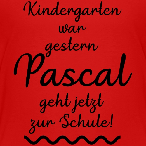 Kindergarten war gestern (Pascal) - Kinder Premium T-Shirt