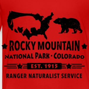 Bison Grizzly Rocky Mountain National Park Berg - Premium-T-shirt barn