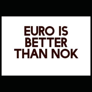 Euro is better than NOK - Premium T-skjorte for barn