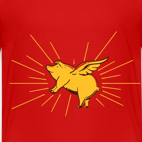 Flying pig - Kinderen Premium T-shirt
