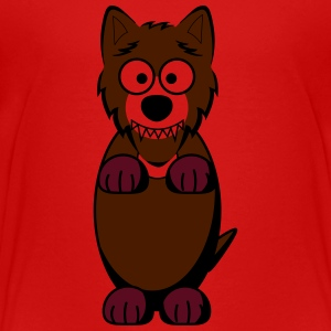 Wolf in brown - Kids' Premium T-Shirt
