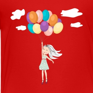Flying Away With Balloons - Premium T-skjorte for barn