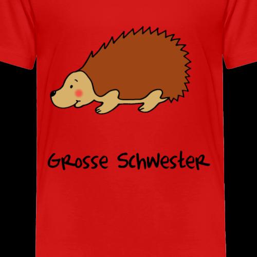 Liebevoller Igel für die große Schwester - Kinder Premium T-Shirt
