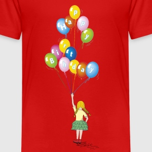 Little girl balloons - Kids' Premium T-Shirt