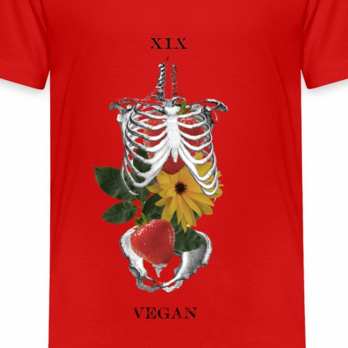 Vegan on the Inside - Red Muted - Kids' Premium T-Shirt