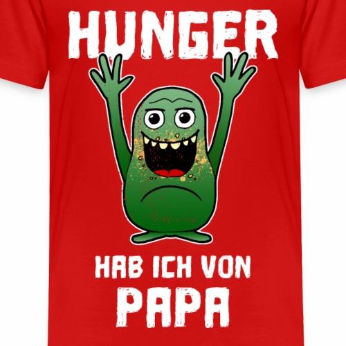 Hunger wie Papa Essen Eltern Kind Geschenk - Kinder Premium T-Shirt