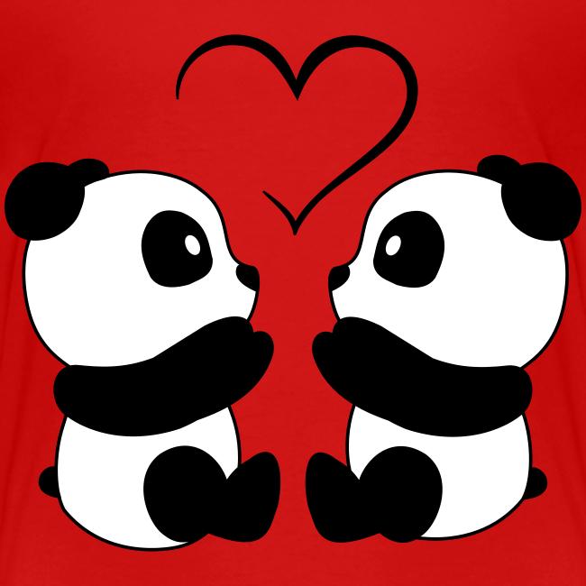 Sweetandmagic Panda Amore Maglietta Premium Per Bambini