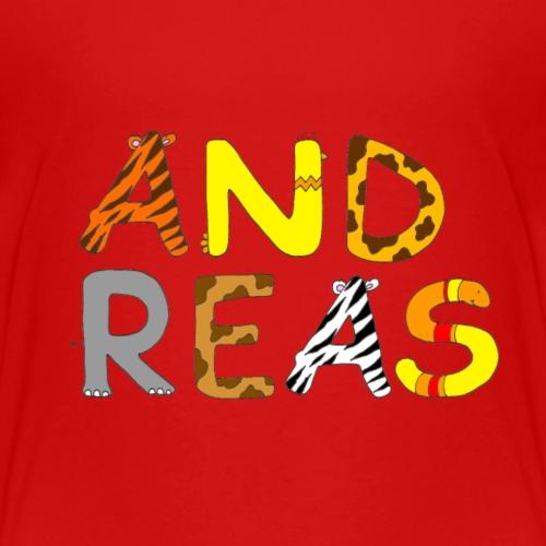 Name Andreas Tierbuchstaben - Kinder Premium T-Shirt