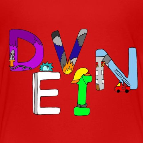 Devin Name in liebevollen Feuerwehr Buchstaben - Kinder Premium T-Shirt