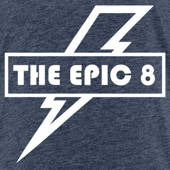 The Epic 8 - Valkoinen logo, iso