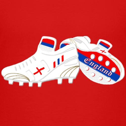 England white football boots - Kids' Premium T-Shirt