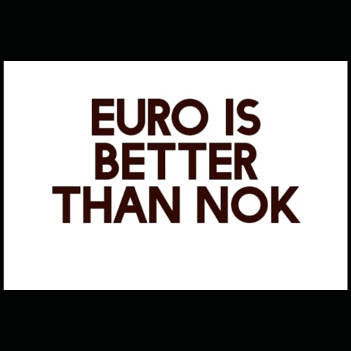 Euro is better than NOK - Premium T-skjorte for barn