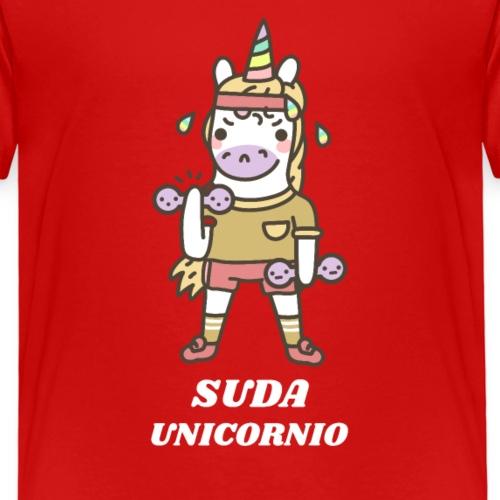 Unicornio Gym   Suda Unicornio   Humor - Camiseta premium niño