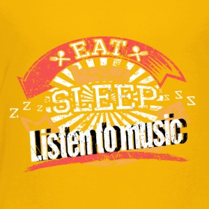 Lyt Eat Sleep Music - Børne premium T-shirt