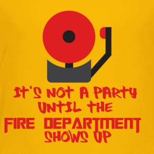 Fire Department: It's not a party until the fire - Kids' Premium T-Shirt