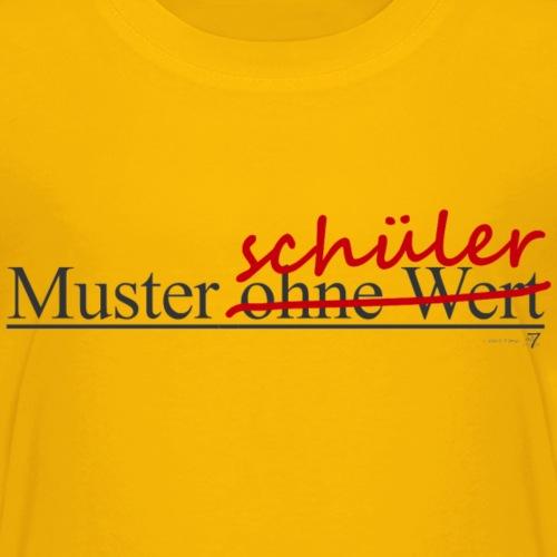 Muster-schüler ohne Wert - dunkel - Kinder Premium T-Shirt