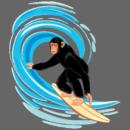 Affe beim Surfen - Kinder Premium T-Shirt