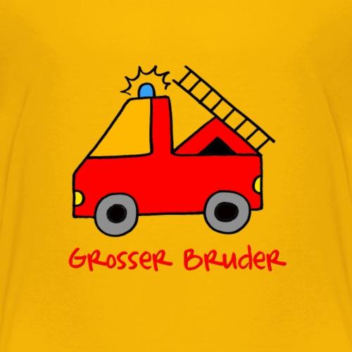 Feuerwehrauto für den großen Bruder - Kinder Premium T-Shirt